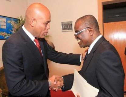 Photo 2 Martelly et Me Patrice Cadet