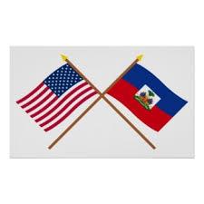Image 2 drapeaux Haiti et Etats-Unis