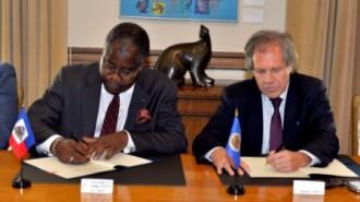 Photo 2 Signature Accord Haiti-OEA
