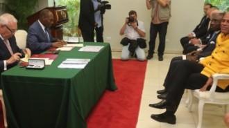 photo 2 Accord cadre de coope¦üration entre le Gouvernement hai¦êtien et celui du Royaume d'Espagne