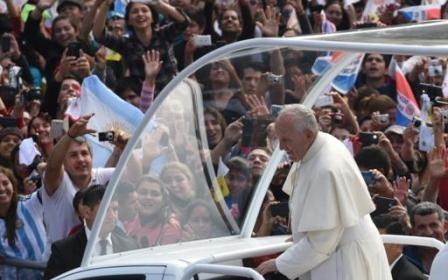 image du Pape François à Caanupé 2