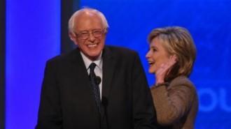 Photos 2 Sanders et Clinton