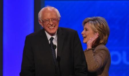 Photos 2 Sanders et Clinton