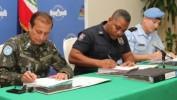Signature du Plan intégré de sécurité électorale entre la PNH et la MINUSTAH