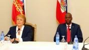 Visite officielle de la Présidente du Chili Michelle Bachelet en Haïti