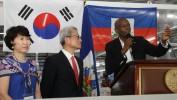 Le Président Moïse participe à l'inauguration du 2ème complexe scolaire S&H de Trou-du-Nord