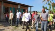 Le président Moïse à la rencontre des victimes de Matthew dans la  Grand'Anse