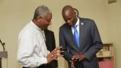 Le Président Jovenel Moise rencontre le Cardinal Chibly Langlois