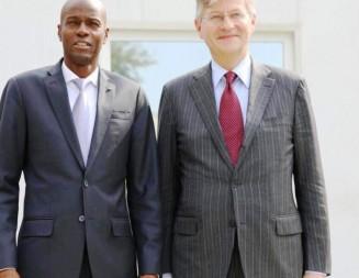 Le Secrétaire général adjoint de l'ONU aux opérations de maintien de la Paix, Jean Pierre Lacroix reçu en audience par le Président Jovenel Moïse