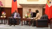 Le Président d'Haïti Jovenel Moïse reçu par son homologue de Taïwan  Madame TSAI Ing-wen