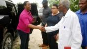 Visite de la Première Dame d'Haïti à l'hôpital des tuberculeux de Port-au-Prince