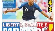 Mondial 2018 : La presse étrangère célèbre la performance de Kylian Mbappé face à l'Argentine