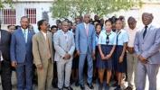 Le Président Jovenel Moïse sur le site du futur local du lycée d'excellence Jean-Jacques Dessalines